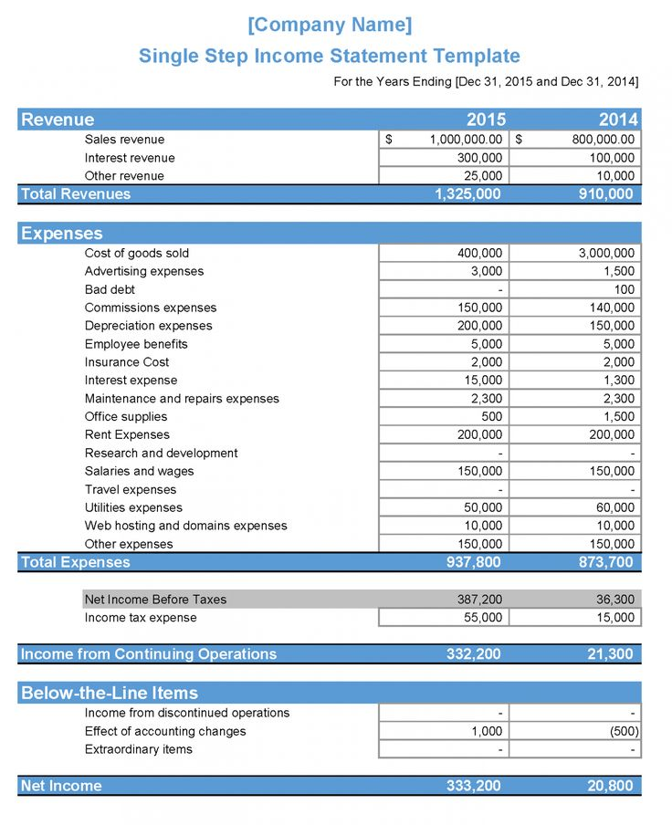 11 Financial Statement Sample Format in 2020