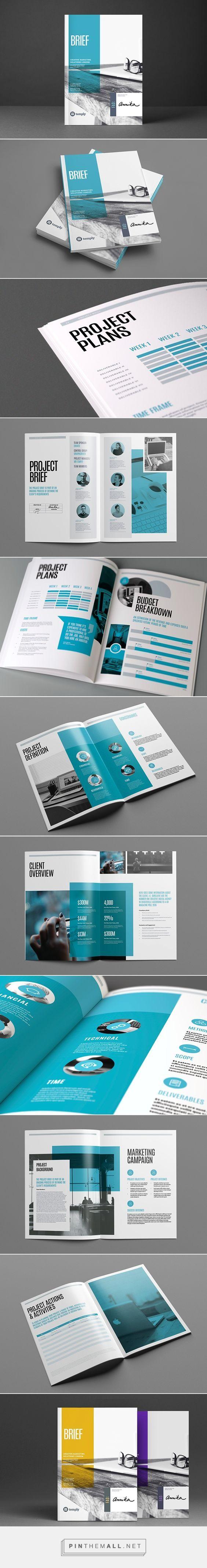 Brief Editorial Design, Graphic Design, Print Design - created via…