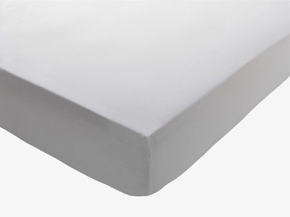 White sateen fitted sheet king habitat gbp35