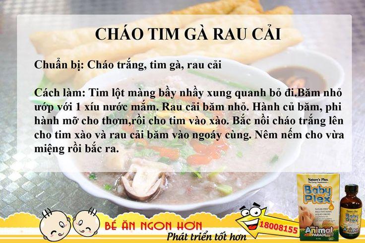 CHÁO TIM GÀ RAU CẢI