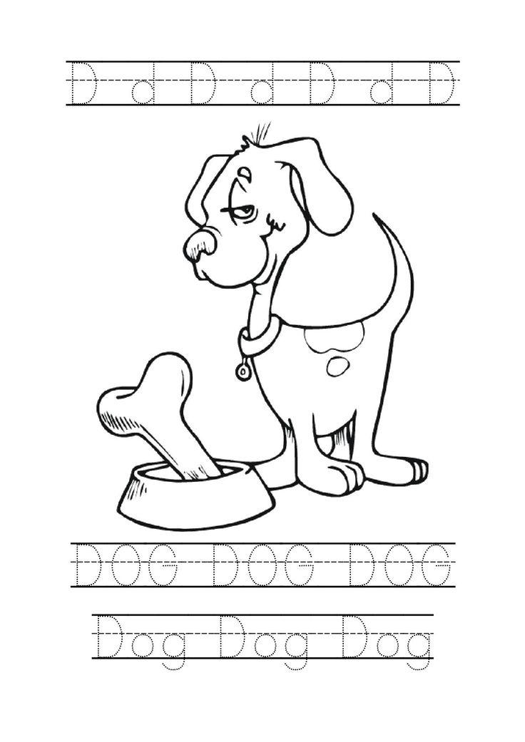 letter d tracing dog preschool worksheets crafts pinterest d dogs and letters. Black Bedroom Furniture Sets. Home Design Ideas