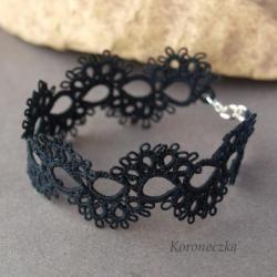 bransoletka,gotyk,styl wiktoriański,koronka - Bransoletki - Biżuteria