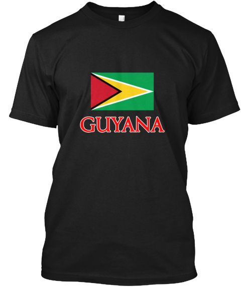 Guyana Flag Design Black T-Shirt Front - This is the perfect gift for someone who loves Guyana. Thank you for visiting my page (Related terms: Flag Guyana,I Heart Guyana,Guyana,Guyanese,Guyana Travel,I Love My Country,Guyana Flag, Guyana Map,G #Guyana, #Guyanashirts...)