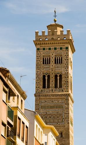 Torre de La Magdalena, Zaragoza, Spain. Joya del arte mudejar.