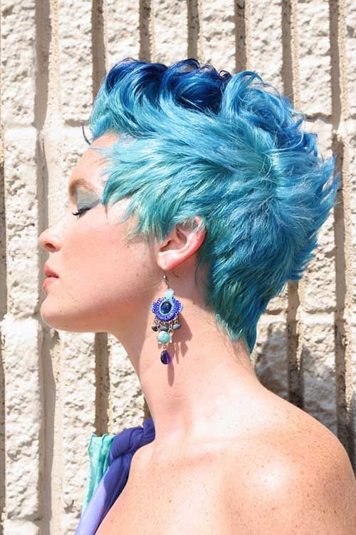 punky hair styles best 25 blue hair highlights ideas on 9281