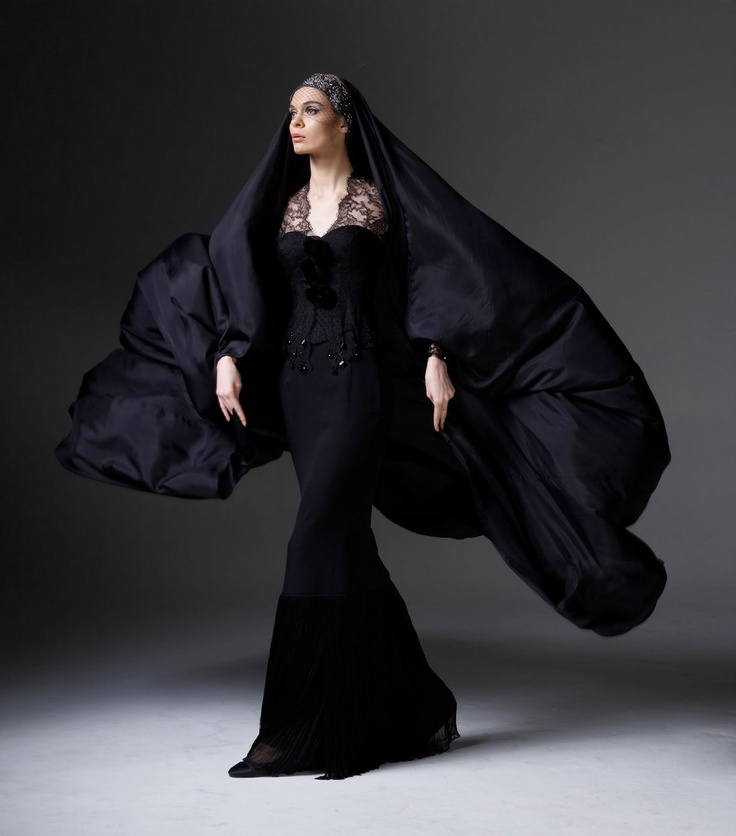 Black Kebaya by Rizalman Ibrahim - When I first saw this last year, I was blown away. Traditional Malay cut combined with couture touch, what a piece. One day. -A