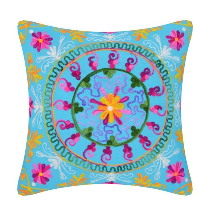 Indian Handmade SUZANI cushion cover pillow cover sofa cushion cover Embroidered #Handmade