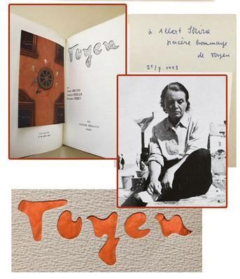 Copy of TOYEN. Breton André / Péret Benjamin / Heisler Jindrich. - 1953. Podpis Toyen. Sokolova; Eda Mládková; /exil/q/