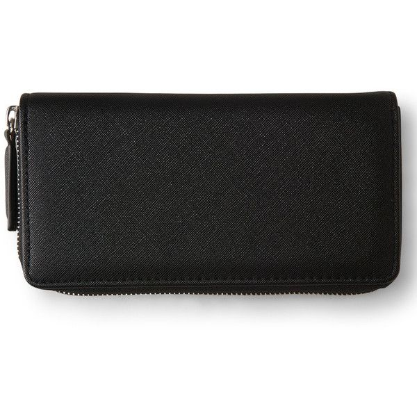 Aeropostale Zippered Faux Leather Wallet (€7,33) ❤ liked on Polyvore featuring bags, wallets, black, faux leather bag, pocket wallet, zip wallet, vegan leather wallet and sparkle bag