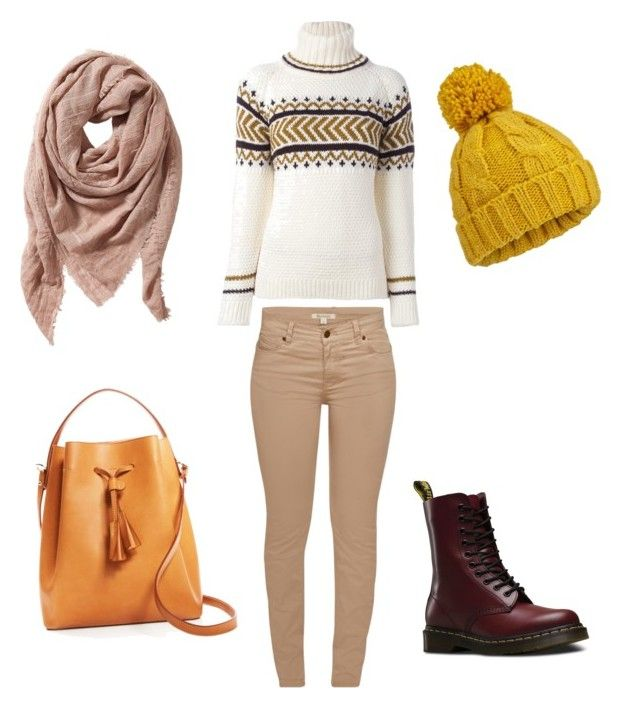 """frozen"" by lula-kruta ❤ liked on Polyvore featuring &Daughter, Céline Lefébure, Barbour, Dr. Martens, TravelSmith and Miss Selfridge"
