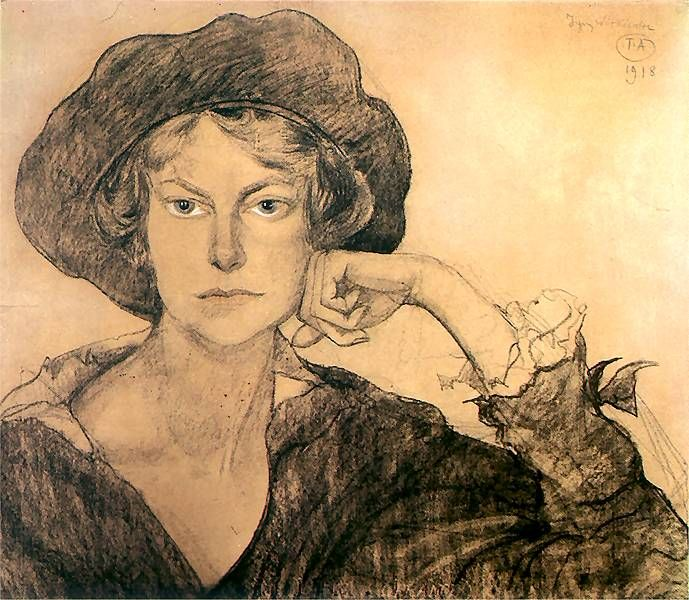 Portrait of Irena Szarote 1918 by Witkacy