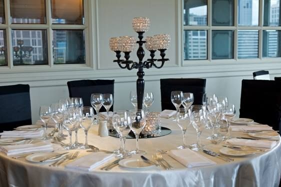 Black regency candelabra