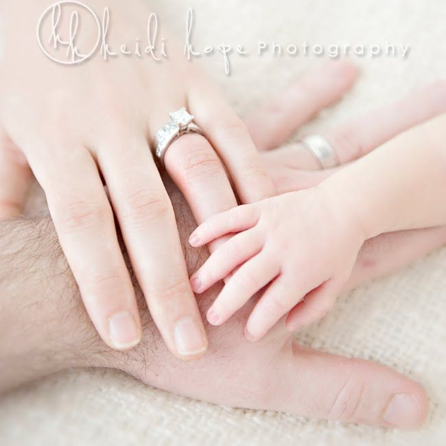 """we didn't get a """"hand-on-hand"""" pic from our wedding, so this is a must do w/ babies"""