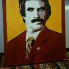 """""""I'm Ron Burgundy?"""" by me acrylic Bolly4u"""