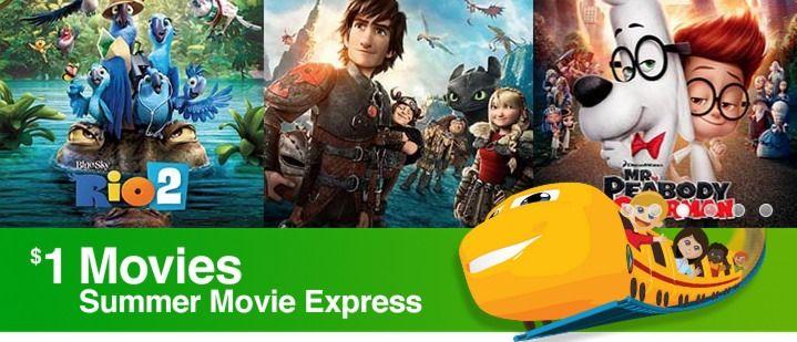 Regal Cinemas Summer Movie Express $1 Movies Schedule For 2015 (MOVIE TICKETS ONLY $1)