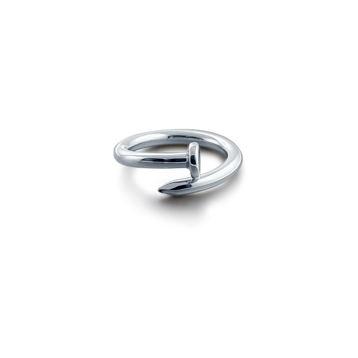 Solid Sterling Silver Nail Ring