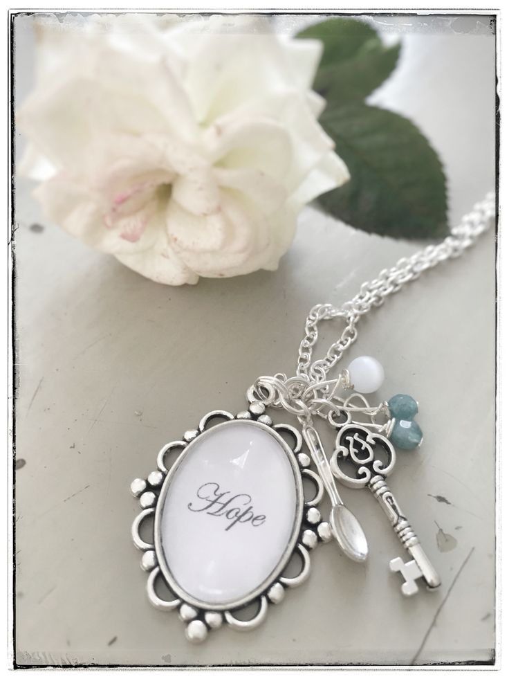 Spoon jewelry, silver plated cameo with aquamarines on www.varalusikka.fi