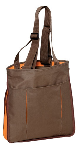 Promotional Products | Port Authority Expandable Tote | This travel-ready tote cleverly unzips to reveal a pop of color.