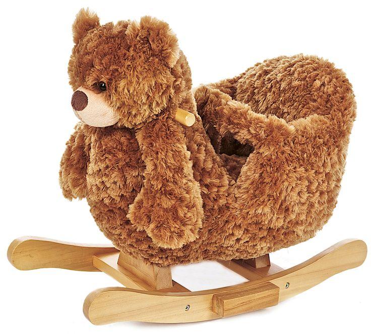 <b> Teddykompaniet Bamsegynge med Lyd </b> - en sød gyngehest i form af en glad bamse. Bamsen har et ryglæn samt en rem som man kan spænde rundt om barnets mave, hvilket gør den sikker for selv de mindste, at gynge på. Tryk på bamsens øre, og det vil spille en lille melodi. Alle Teddykompaniets produkter opfylder sikkerhedskravene CA i henhold til EN71, hvilket indebærer at produkterne er børnesikre, ild- og flammesikre, samt at de er fremstillet i giftfrie materialer. <b...