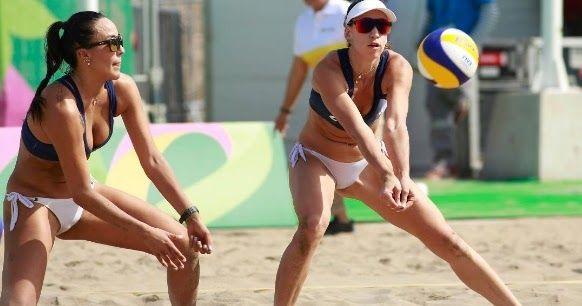 Practica Voley Playa En La Sede De Los Panamericanos Volleyball Practice Volleyball Bikinis