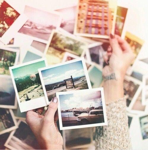 memories, photo, and polaroid image