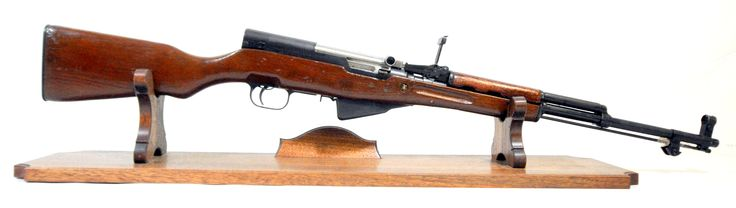 """Norinco SKS 7.62x39 with Wood Stock. The SKS is a semi-automatic rifle. This example from Norinco features a wood stock, ladder rear sight, and front hooded post sight. Visible serials match except for stock. 5-round capacity of 7.62x39mm. 20"""" barrel. [Pre-Owned] $325.00"""