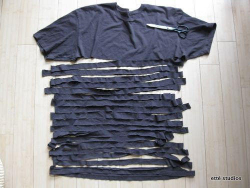 Hand Made Scarf---Old Skivvy Shirts live on!