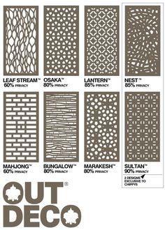 outdeco panels - Timber Screening, Merbau Screening, Privacy Screens, D.I.Y Screens