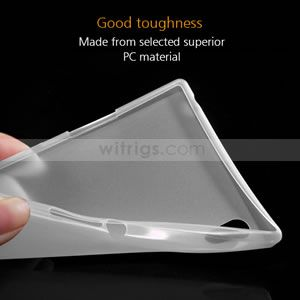 0.3mm Ultra-Thin Matte Hard Case for Sony Xperia Z1 Transparent - Witrigs.com