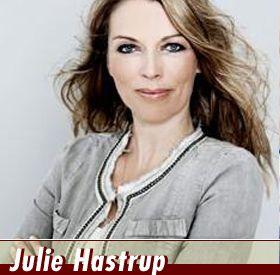 Julie Hastrup (geboren in 1968 in Ringkøbing ), is een Deense journaliste en thrillerauteur.