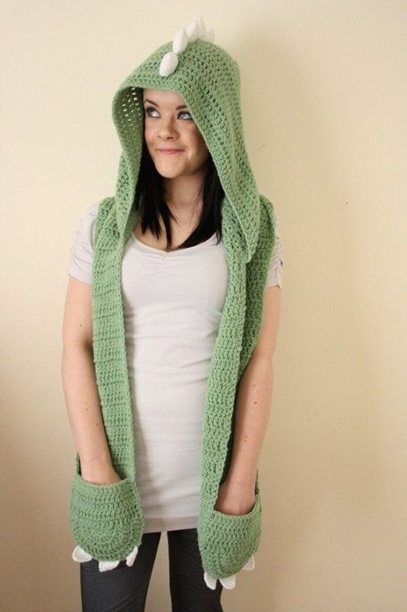 Knitting Pattern For Scarf With Hood And Pockets : 25+ Best Ideas about Crochet Hooded Scarf on Pinterest Hooded scarf, Croche...