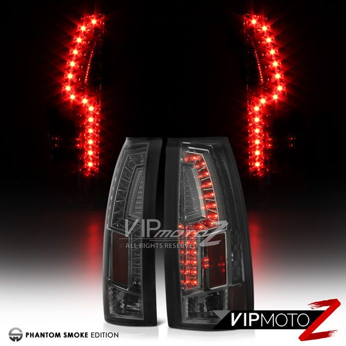 """SMOKE LENS"" 1988-1998 Chevy Silverado Suburban Blazer LED Rear Tail Lights Lamp #VIPMOTOZ"
