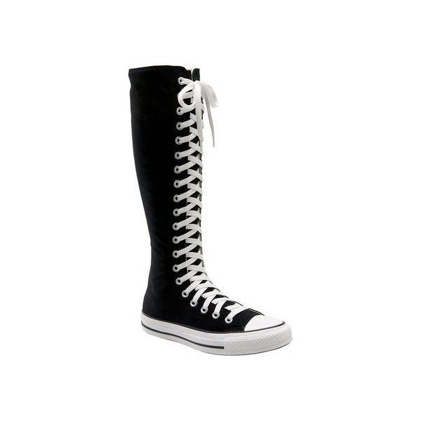 converse knee high tops. knee high converse ❤ liked on polyvore featuring shoes, sneakers, converse, shoes tops k