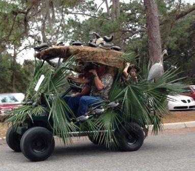 """""""Duck Blind"""" Golf Cart"""