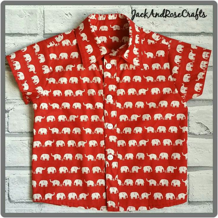 Gorgeous red elephant shirt availble for the boys. I have age 18-24months ready to post & also available made to order.