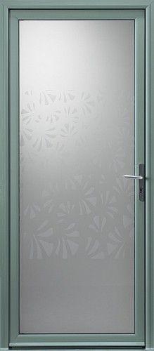 Porte aluminium, Porte entree, Bel'm, Contemporaine, Poignee etroite couleur argent, Grand vitrage, Double vitrage sable serigraphie, Isolation phonique, Luminosite, Nagoya