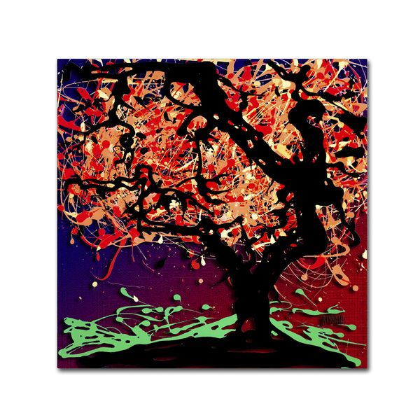 Roderick Stevens 'Fall Red Tree' Canvas Art
