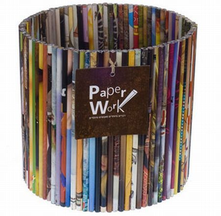 recycled paper basket!
