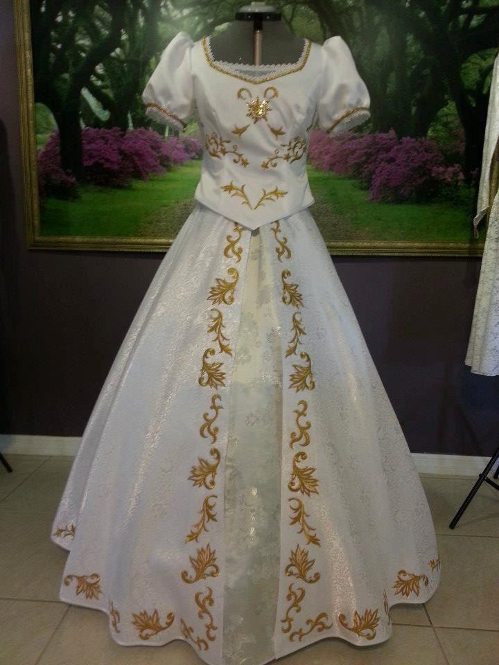 Cute Rapunzel Wedding Dress