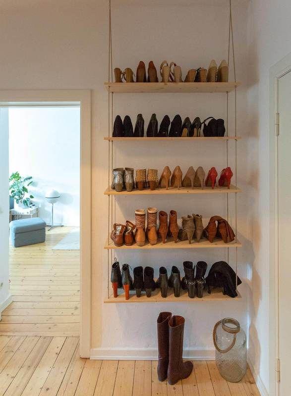 Schuhregal selber bauen » 2 einfache Anleitungen