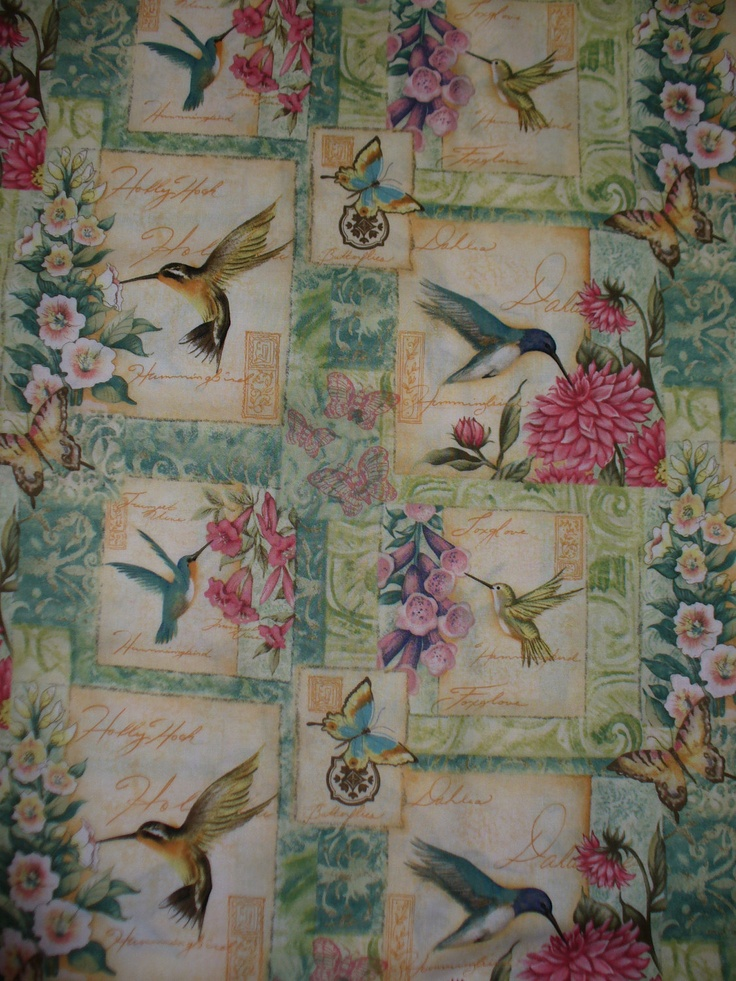1000 Images About Hummingbird Pattern Quilt On Pinterest