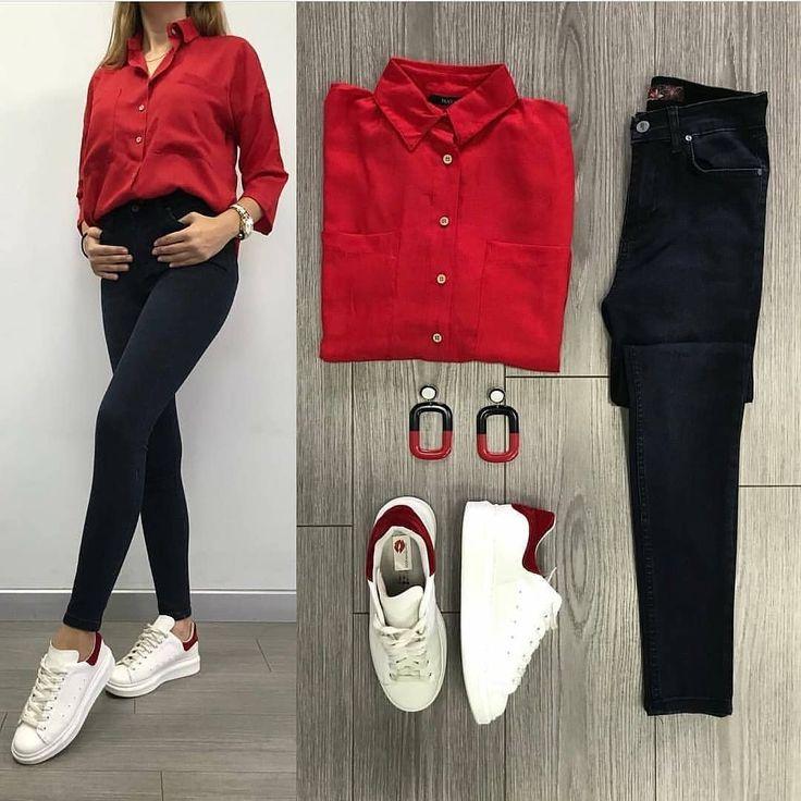 Stimmung 1-8 Welche Kombination gefällt Ihnen am besten? ❤ Vergessen Sie nicht, Ihre Freunde als ❤ zu kennzeichnen Folgen Sie der Entdeckung der @ @modaaskim #dress #tshirt #etek #shoes #confection #confection #moda #fashion #instalike #nice