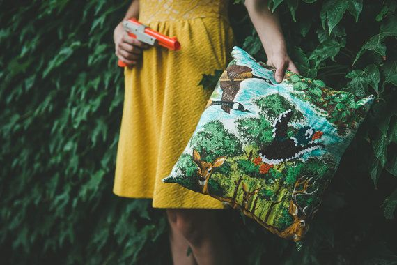 Duck Hunt Pillow! by Lostinthepancakes on Etsy, $95.00