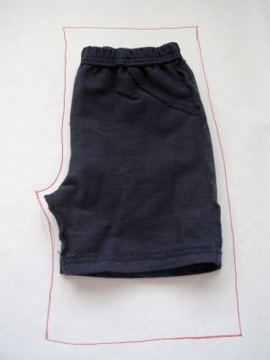 How to make shorts for kids from a pair they already have. Good tute.