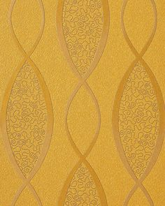 Design behangpapier vinyl abstract strepen EDEM 1018-11 motief golven patroon retro behang jaren 70 interieur goud geel 001
