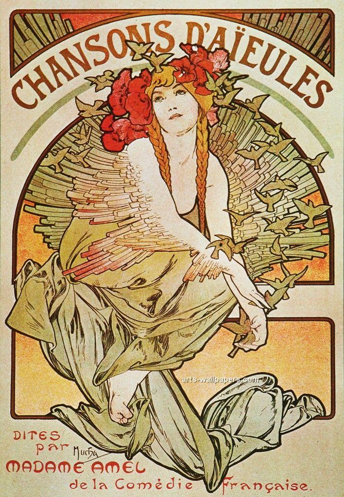 Alphonse Mucha Gallery   Alphonse Mucha Art Print, Prints, Posters, Art Wallpaper