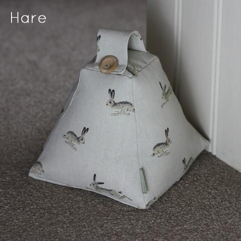 Doorstopper Door stop. Handmade in Sophie Allport Labrador Dog Taupe Cat Chicken Hen Gardening Pheasant English Rose Hare Swallow Fabric
