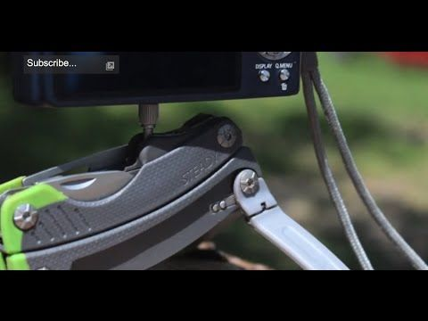 ▶ NEW - Gerber Steady Camera Tripod Multi Tool - Review: Best Multi-Tool iPhone Tripod Mount & Stand / - YouTube