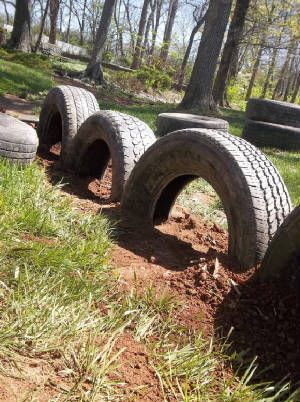 another good example of tires half buried.