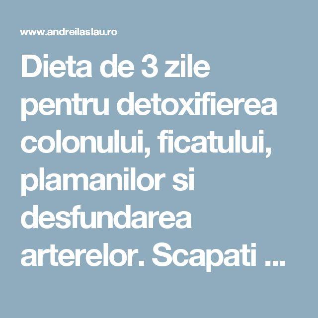 Dieta de 3 zile pentru detoxifierea colonului, ficatului, plamanilor si desfundarea arterelor. Scapati de toxine, grasime si apa in exces! - dr. Andrei Laslău